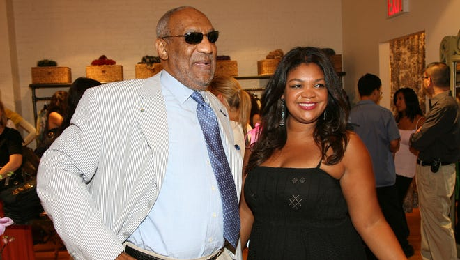 Bill Cosby and daughter Evin Cosby in August 2008.