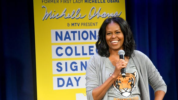 Former First Lady Michelle Obama speaks onstage during