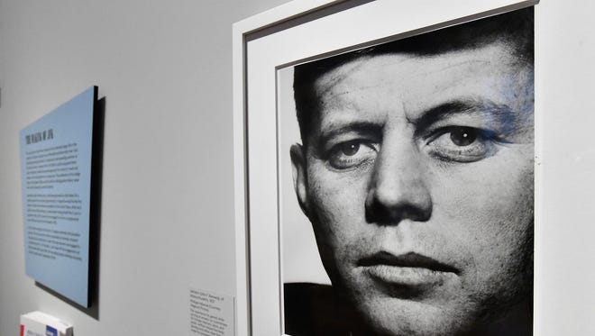 A portrait of President Kennedy in 'American Visionary: John F. Kennedy's Life and Times' exhibit at the Smithsonian American Art Museum & National Portrait Gallery that opened in May 2017 in Washington.