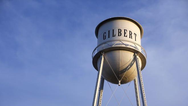 Gilbert water tower.