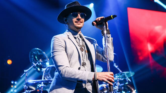 Chester Bennington of Linkin Park performs on stage at the iHeartRadio Album Release Party presented by State Farm at the iHeartRadio Theater Los Angeles on May 22, 2017 in Burbank, California.
