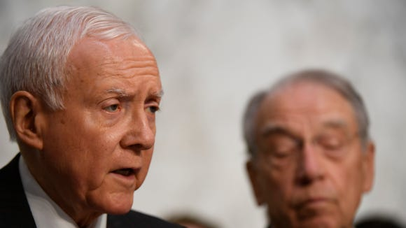 Sen. Orrin Hatch, R-UT, speaks during the the Senate