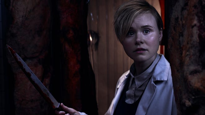 Ivy (Alison Pill) can wield a knife and she's the more grounded partner in her marriage on FX's 'American Horror Story: Cult.'