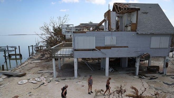 Hurricane Irma aftermath in Summerland Key, Fla., on Sept. 17, 2017.