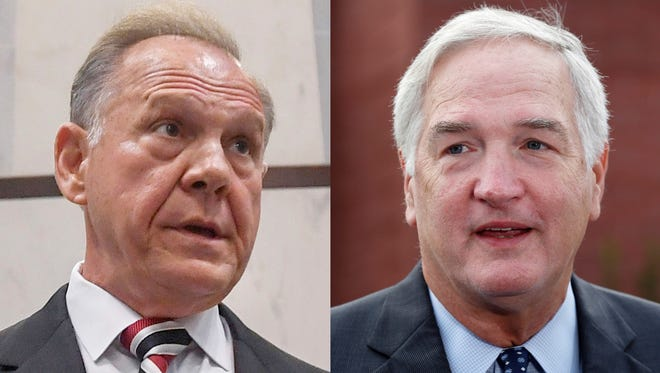 Caption: Roy Moore and Sen. Luther Strange, R-Ala.