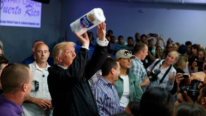President Trump in Puerto Rico on Oct. 3, 2017.