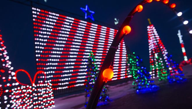 The holiday light display at Tioga Downs Casino's Winterfest includes thousands of lights.