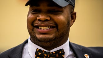 Nashville Christian senior Brant Lawless signs with the Tennessee Volunteers Wednesday afternoon.