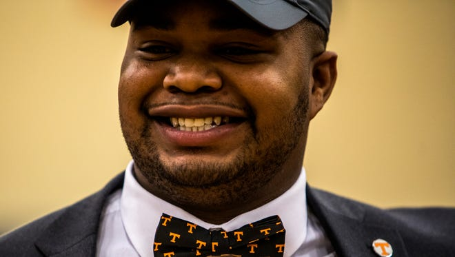 Brant Lawless of Nashville Christian when he signed with Tennessee.