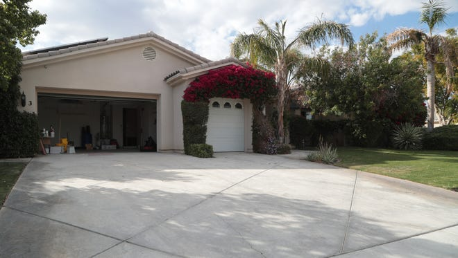 The Riverside County Sheriff's Department discovered a marijuana grow operation inside this Rancho Mirage house, which is owned by former prosecutor and defense attorney David Greenberg,