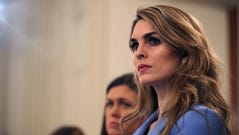 Hope Hicks attends a session hosted by President Trump