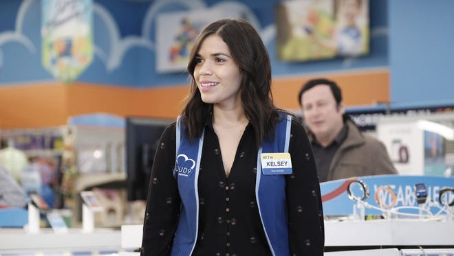 "America Ferrera as Amy on ""Superstore."""