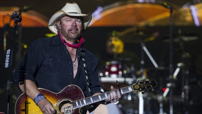 Toby Keith performs during Country Thunder Arizona on Saturday, April 7, 2018, in Florence, Arizona.