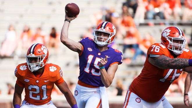 Clemson backup quarterback Hunter Johnson is transferring from the program, leaving the Tigers with three scholarship quarterbacks.