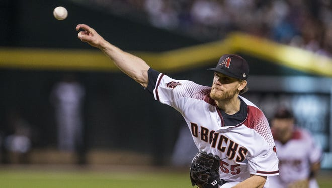 Diamondbacks pitcher Matt Koch throws against the Brewers in the 5th inning on Wednesday, May 16, 2018 at Chase Field in Phoenix. The Brewers won, 8-2.