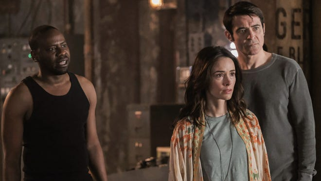 'Timeless,' NBC's time-travel fantasy series, won another improbable reprieve. No, NBC didn't commit to a third season, but it's agreed to air a two-hour finale movie to provide closure for fans.  Malcolm Barrett (left), Abigail Spencer and Goran Visnjic were among its stars.