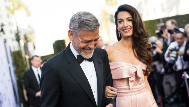 Amal Clooney and George Clooney attend his American Film Institute's 46th Life Achievement Award Gala on June 7.
