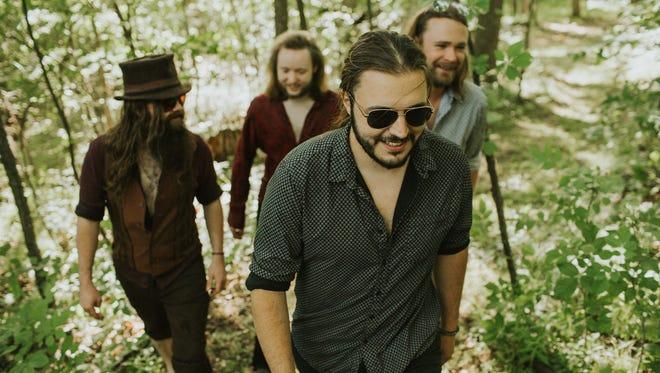 The Gasoline Gypsies: Caleb Malooley (front), with Joe Makowski, Neil (Laymon) Love and Steve Briere.