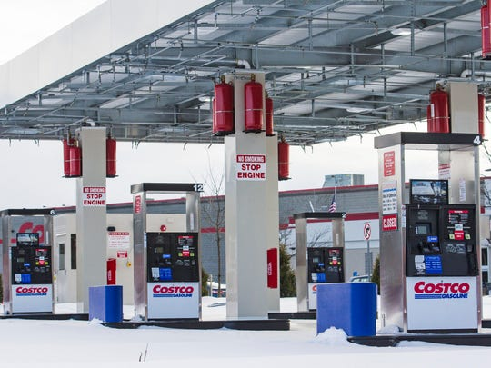 The gas pumps at Costco in Colchester on Monday, February 12, 2018.  The pumps sit unused after having been installed last year.