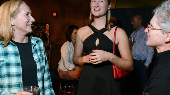 Lauren Tamayo, all dressed up at UHC Pro Cycling Team Presentation and Gala Monday night.