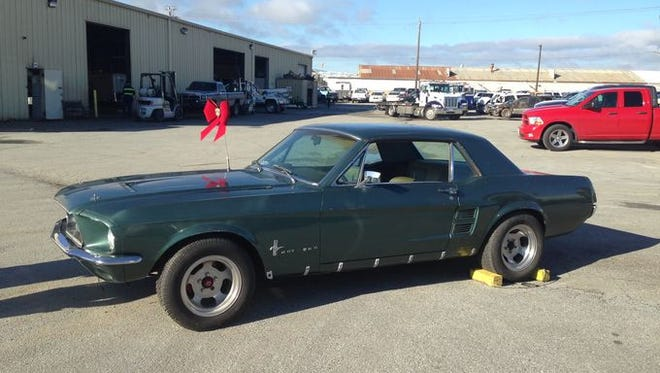 Lynda Alsip, a former Salinas woman, was reunited with her 1967 Mustang on Monday at California Towing. A California Highway Patrol officer was able to connect the old car with Alsip after it was stolen in 1986.