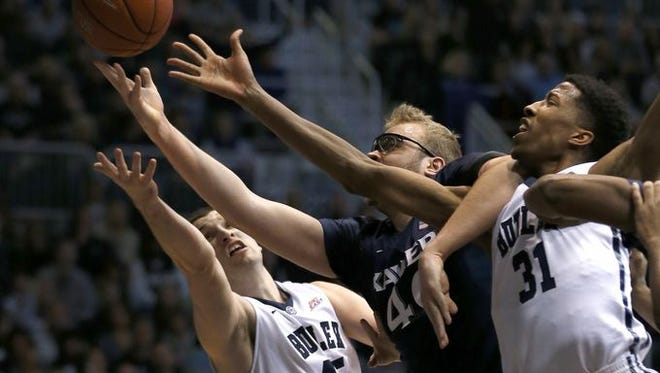 Matt Stainbrook (center) and Xavier face No. 5 Villanova in Wednesday's 9 p.m. Big East showdown at The Pavilion. Villanova is the only Big East team Xavier has not defeated since joining the conference last year.