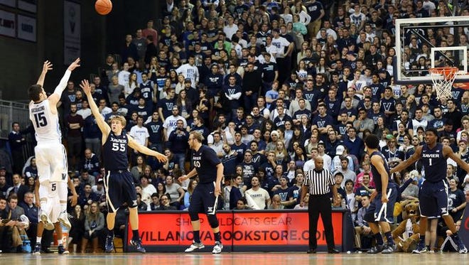 Ryan Arcidiacono (15) scored a team-high 18 points for Villanova, fueled by four 3-pointers. The fifth-ranked Wildcats defeated Xavier 88-75 Wednesday at The Pavilion.