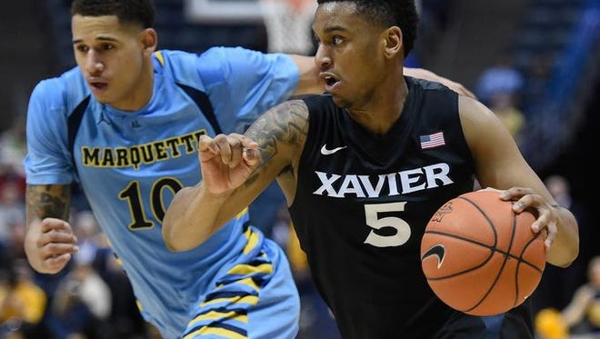 Xavier freshman Trevon Bluiett made the Big East honor roll Monday after averaging 15 points and 4.5 rebounds last week. He had a team-high 14 points at Marquette.