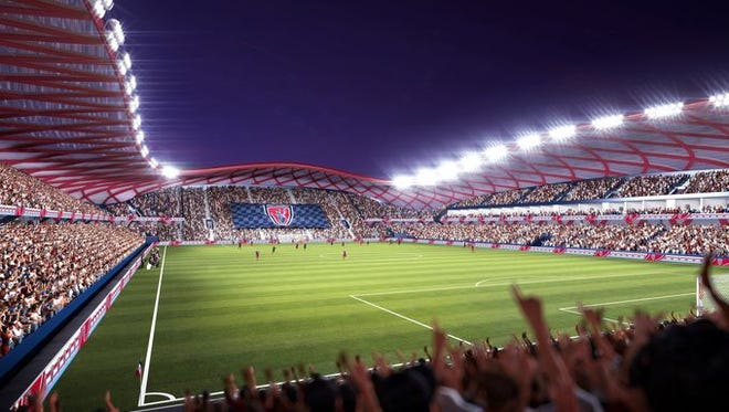 Rendering of proposed Indy Eleven stadium