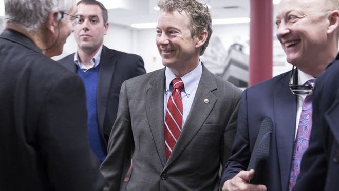 Sen. Rand Paul, R-Ky., meeting with Republican officials in Bowling Green.
