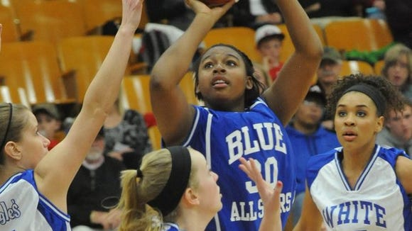 The Blue-White All-Star girls game in 2014.