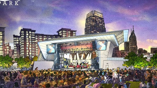 A rendering of what the riverfront amphitheater will look like.
