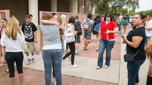Students at Corona del Sol High School are sent home