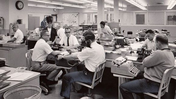 Newsroom, circa 1965