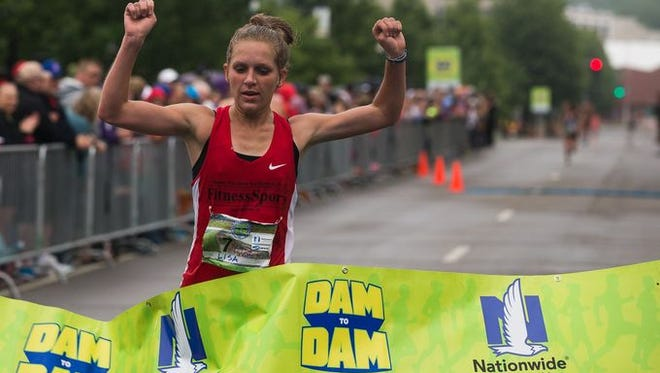 Dam to Dam women's winner Lisa Uhl.
