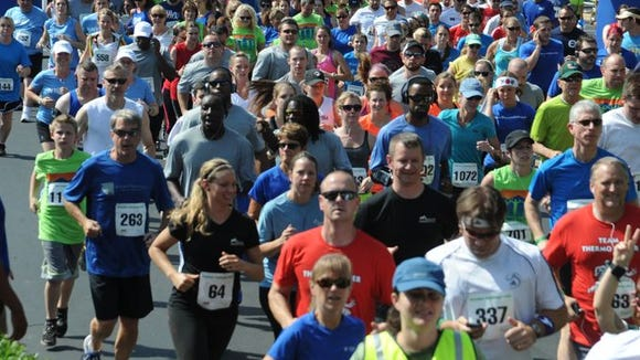More than 1,200 runners are expected at the Asheville Chamber Challenge 5K Friday, June 5.