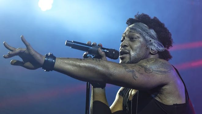 D'Angelo and the Vanguard perform at This Tent Saturday at  Bonnaroo in Manchester, Tenn.