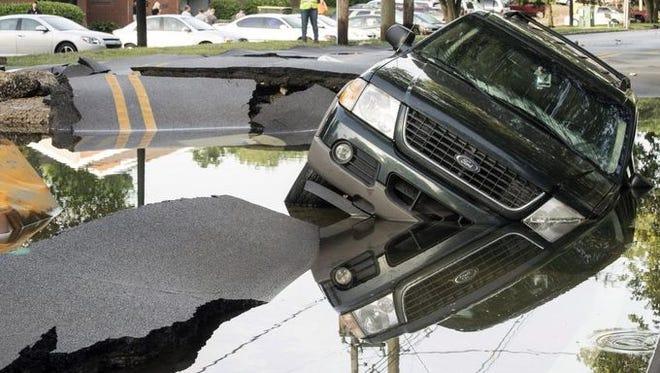 Aftermath of major water main break this week in Louisville.