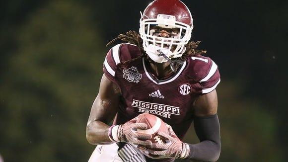 Mississippi State wide receiver De'Runnya Wilson will