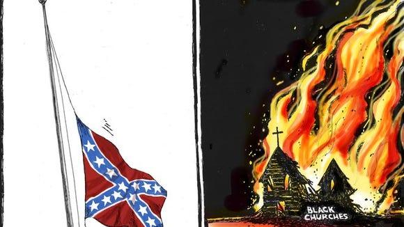 """""""Lowering... rising"""" cartoon"""