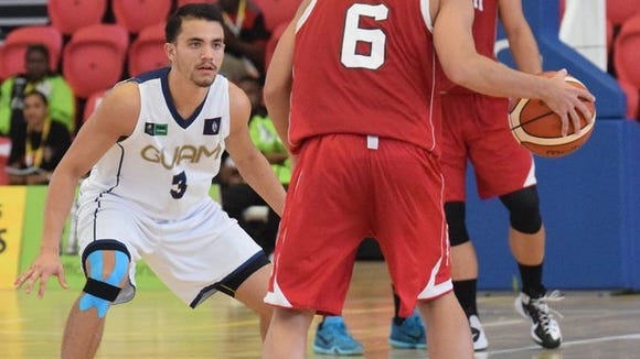 Former Christ School basketball player Kyle Husslein (3) was a member of the Guam men's national team at this year's Pacific Games.