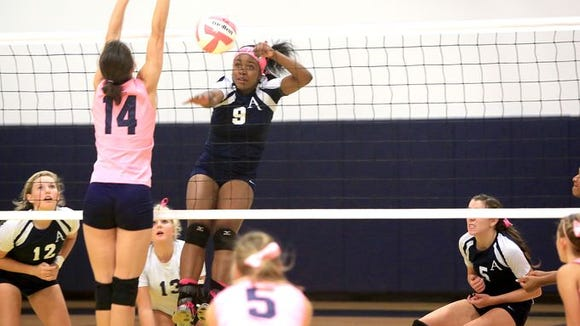 Azana Green (9) is expected to be one of the top players for the Asheville School volleyball team.