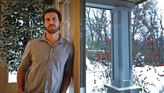 Ben Utecht shown at his Lakeville, Minn., home in November.