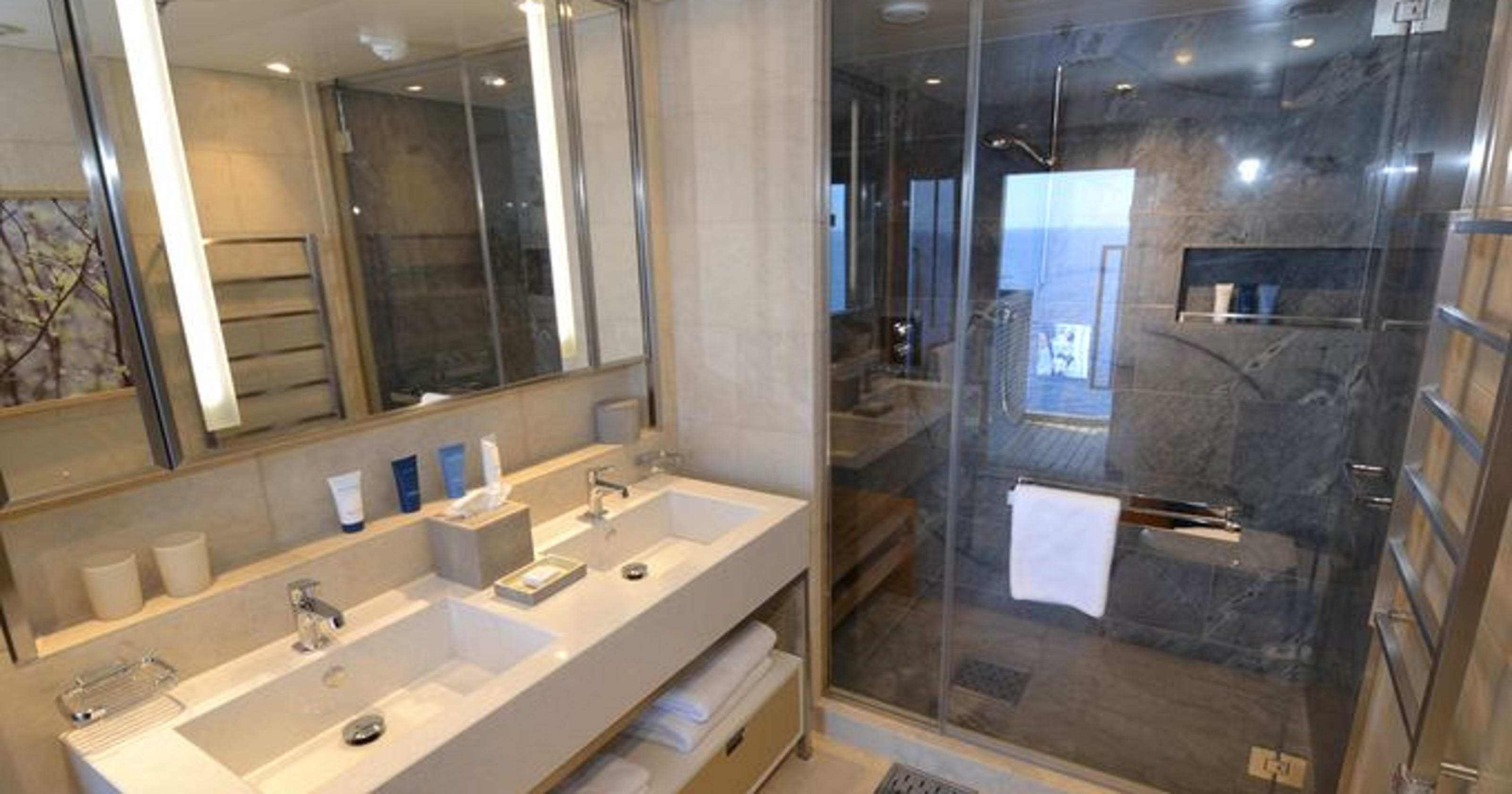 Viking Re Installs Shower Doors On Viking Star Due To Shattering Issue