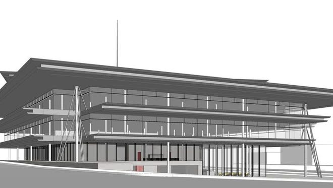 Kum & Go released renderings of its new offices proposed for downtown Des Moines' Western Gateway.