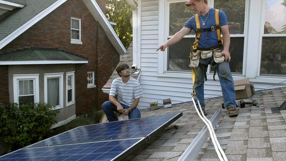 Solar panels on this home in Clifton had to be installed