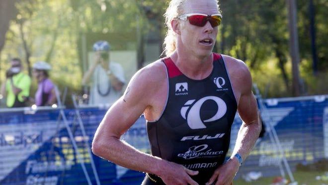 Des Moines Triathlon winner Cameron Dye.