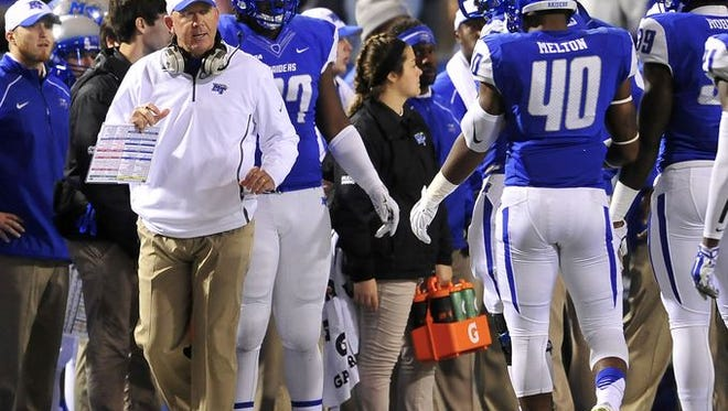 MTSU coach Rick Stockstill is looking for his 60th victory as MTSU head coach.