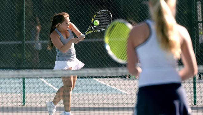Audrey Chor and Roberson are home for Tuesday's next round of the NCHSAA 4-A dual team tennis playoffs.