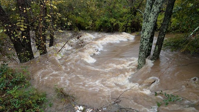 Rainfall levels were high throughout the Upstate on Nov. 2.